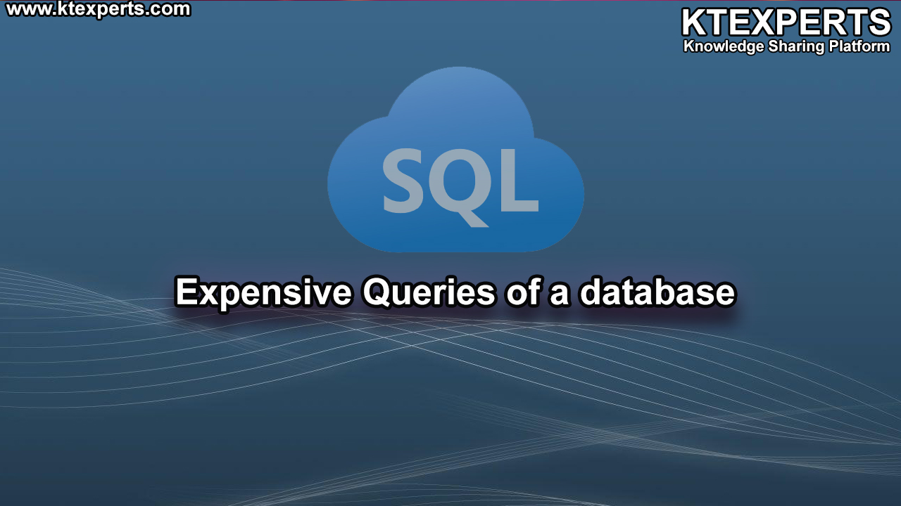 Expensive Queries of a database