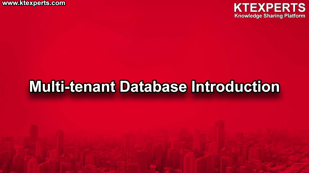Multi-tenant Database Introduction