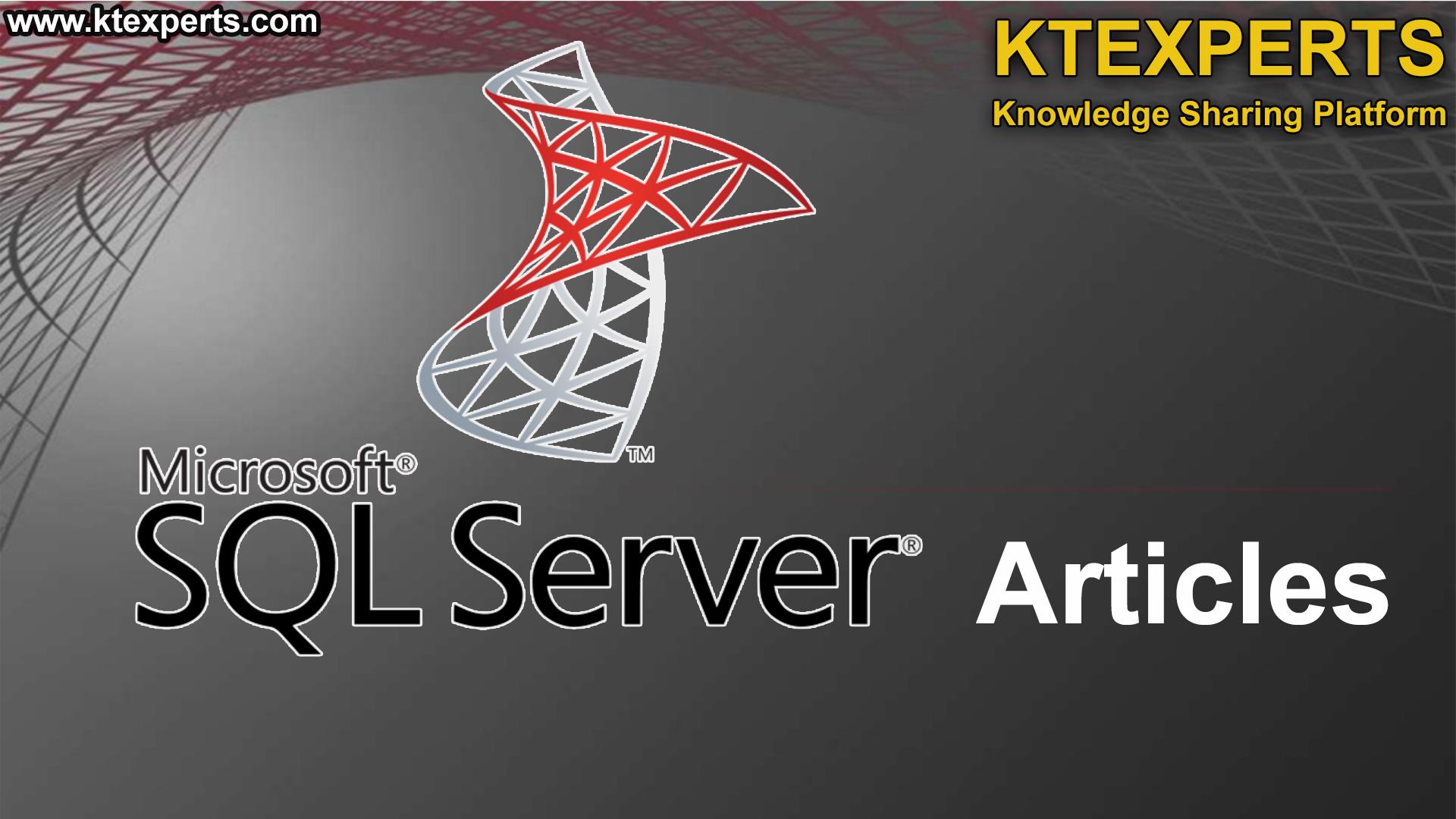 SQL SERVER Articles