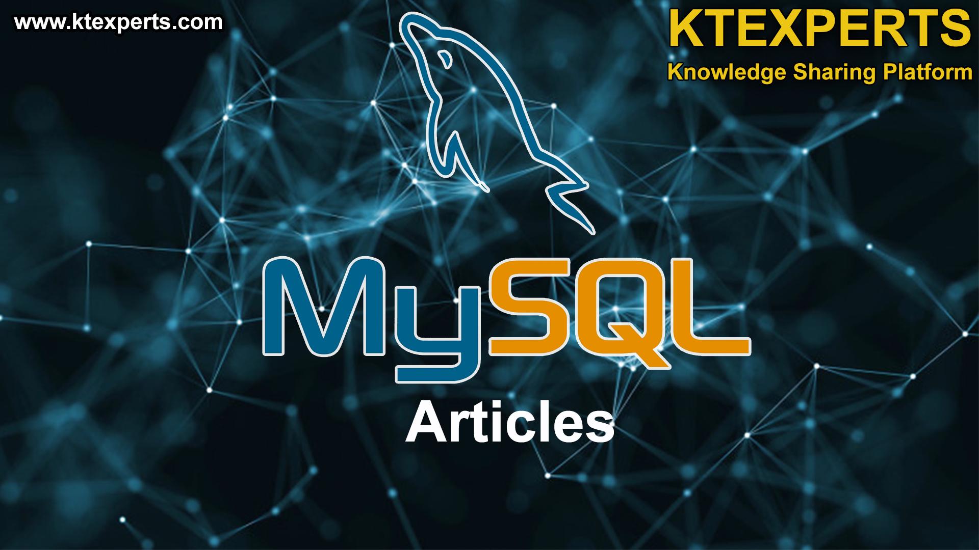 MySQL ARTICLES