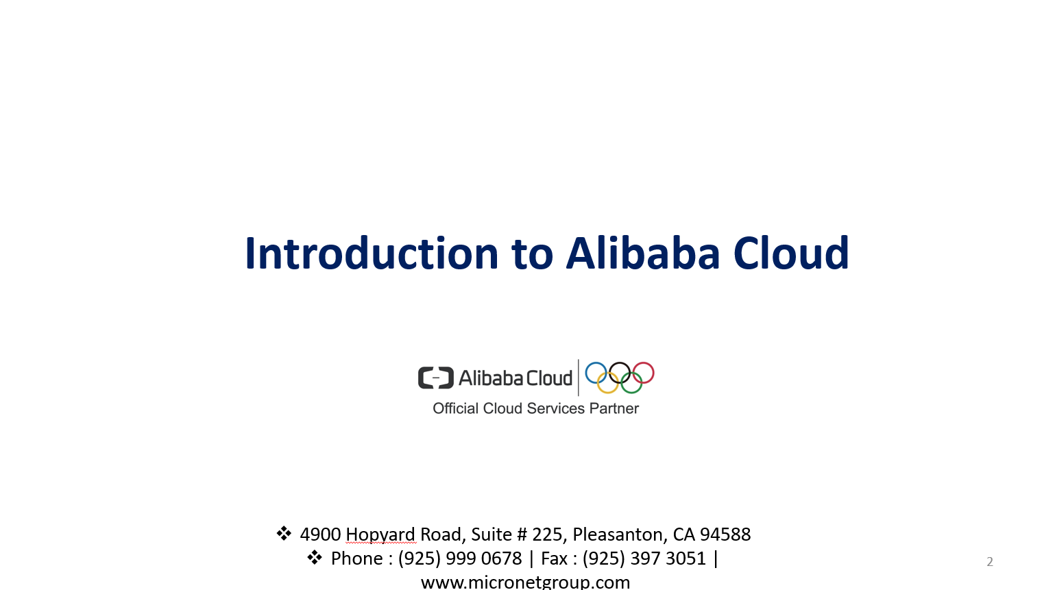 Introduction to Alibaba Cloud