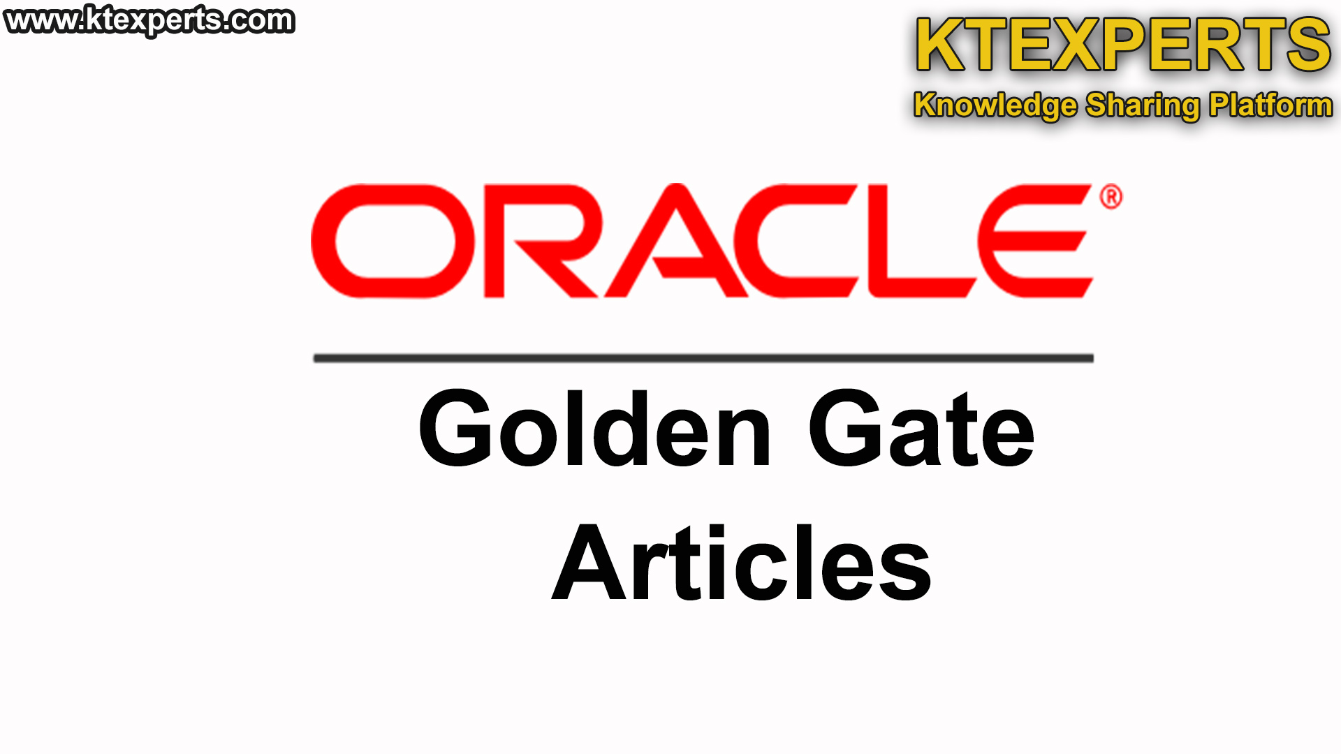 Oracle GoldenGate Articles
