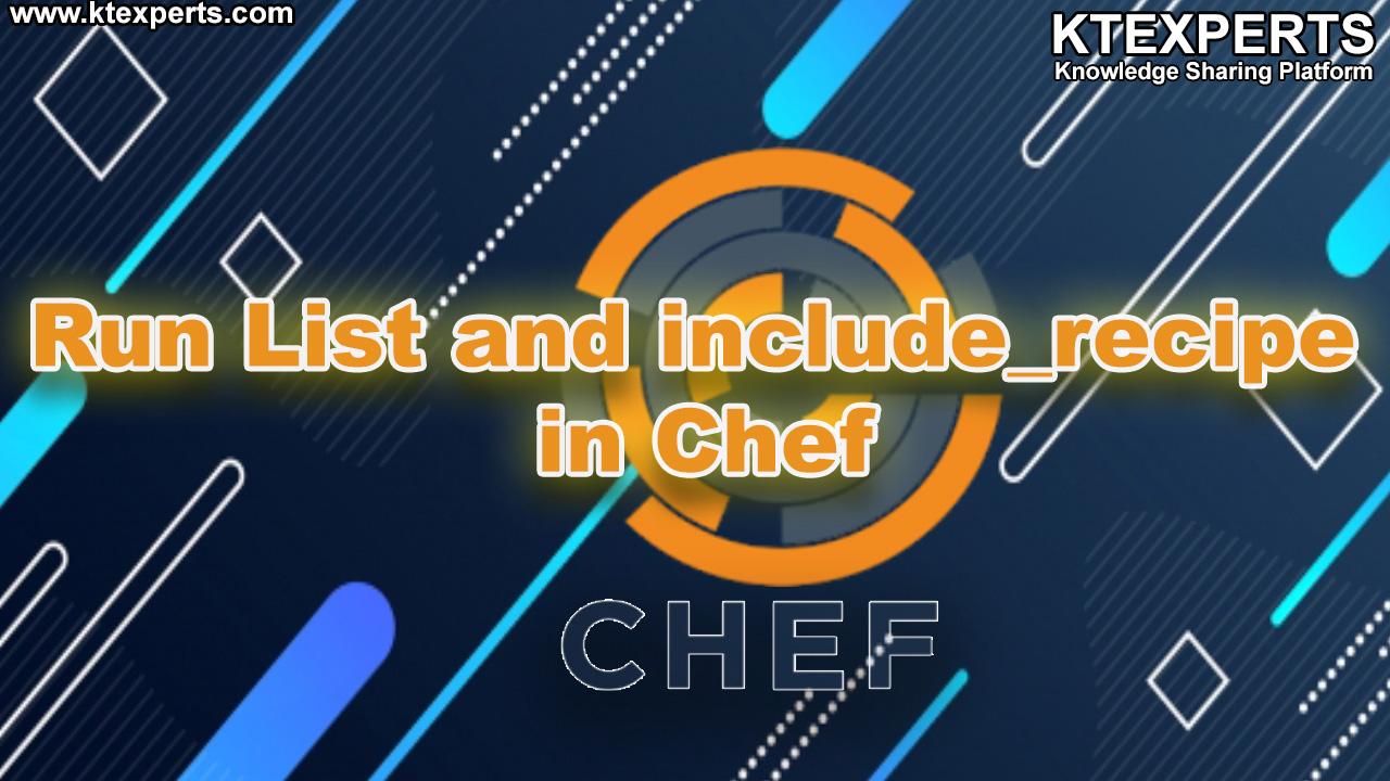 Run List and include_recipe in Chef