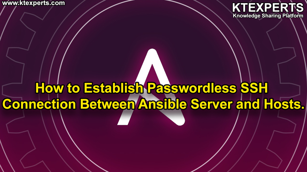 How to Establish Passwordless SSH Connection Between Ansible Server and  Hosts