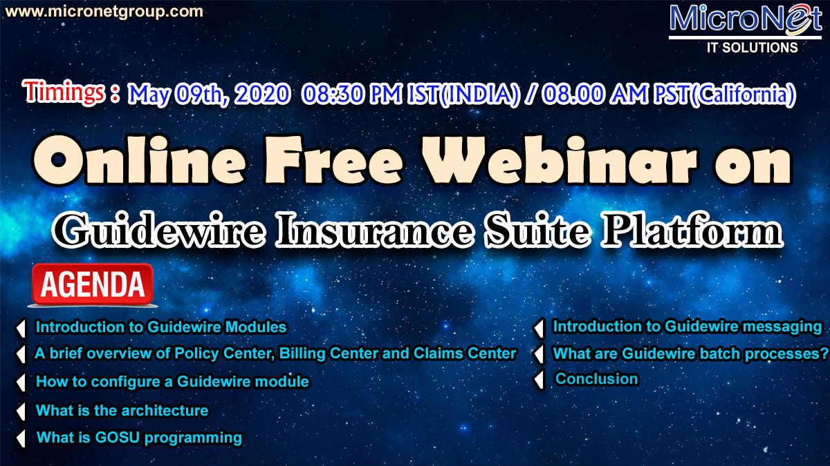 Online Webinar On Guidewire Insurance Suite Platform