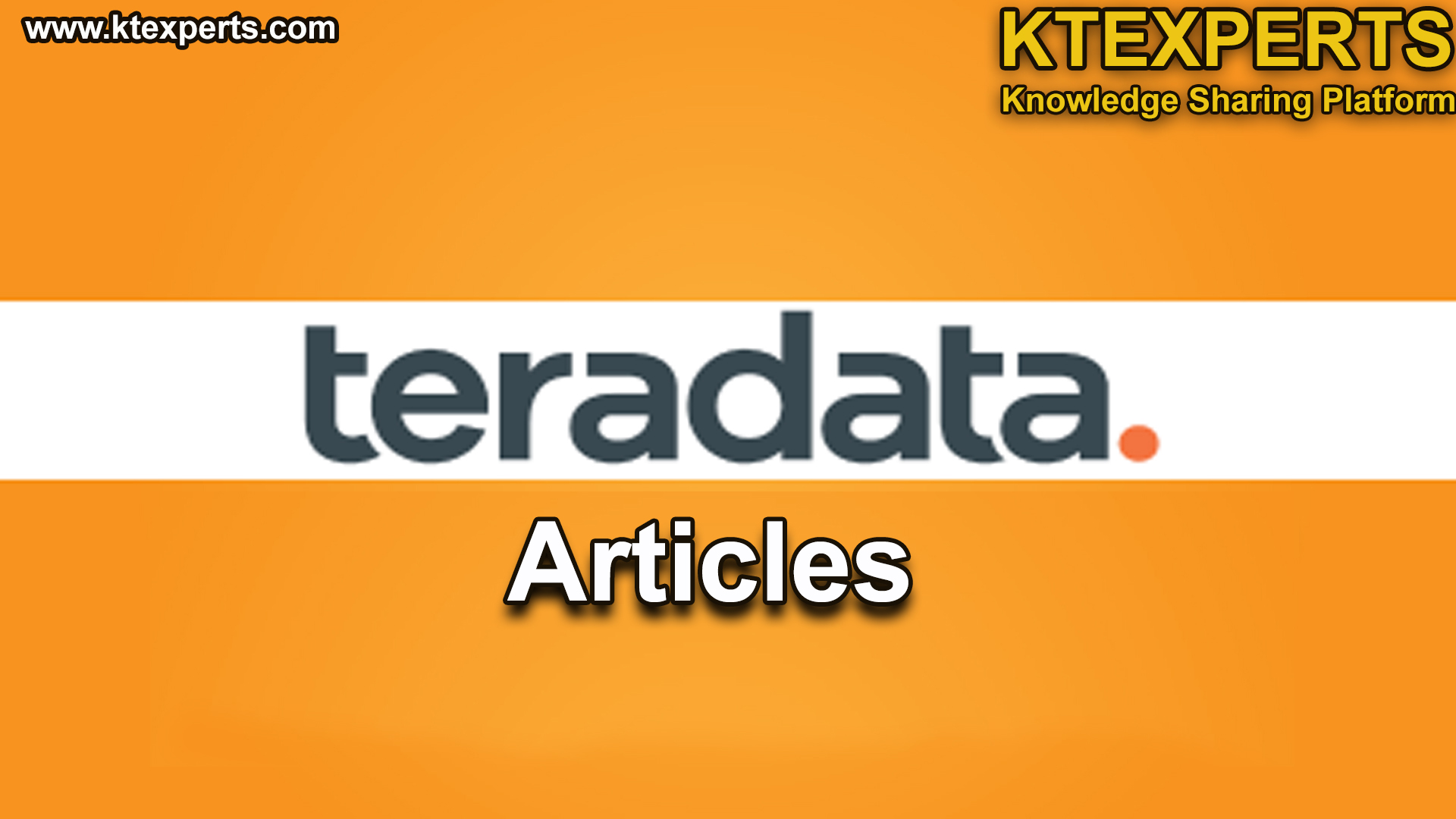 TERADATA DBA Articles