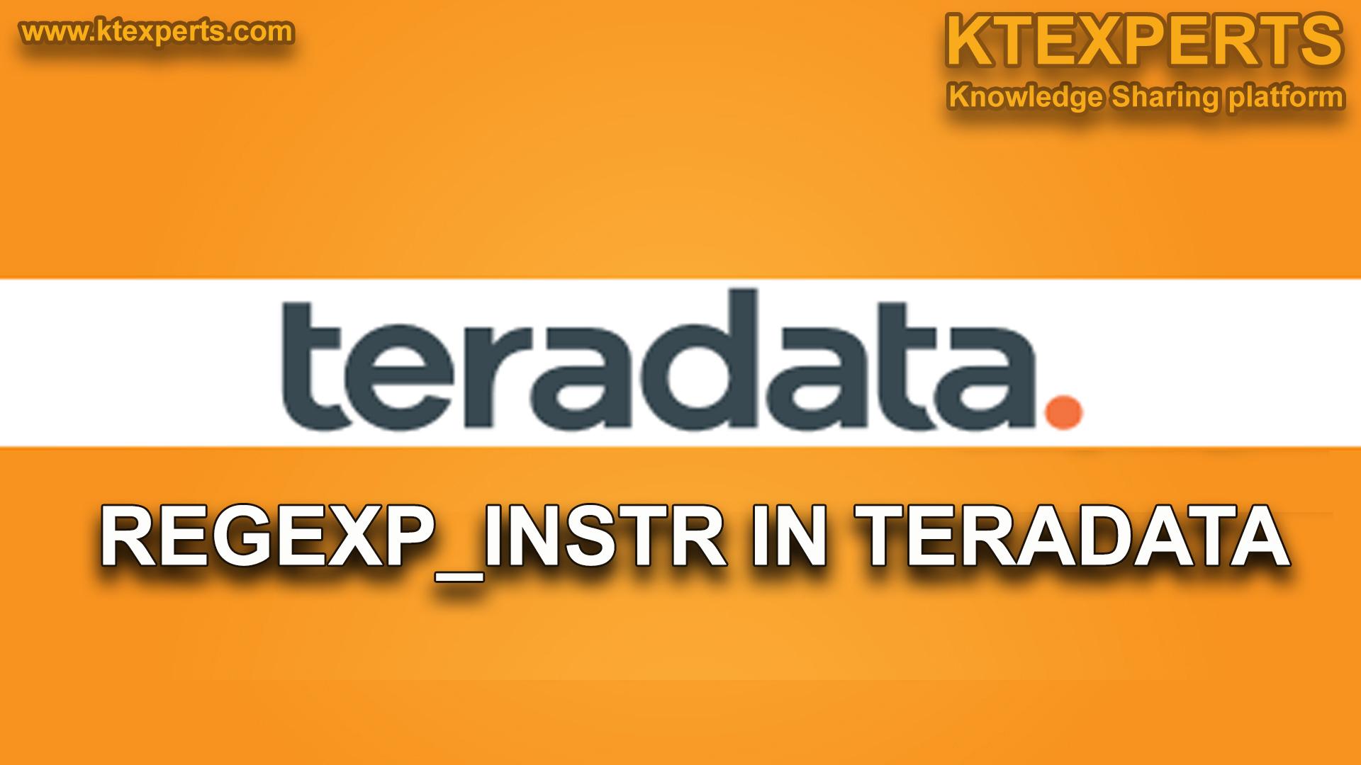 REGEXP_INSTR IN TERADATA