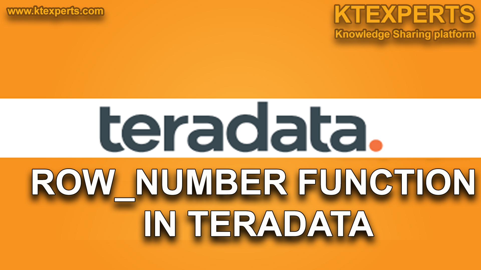 ROW_NUMBER FUNCTION IN TERADATA