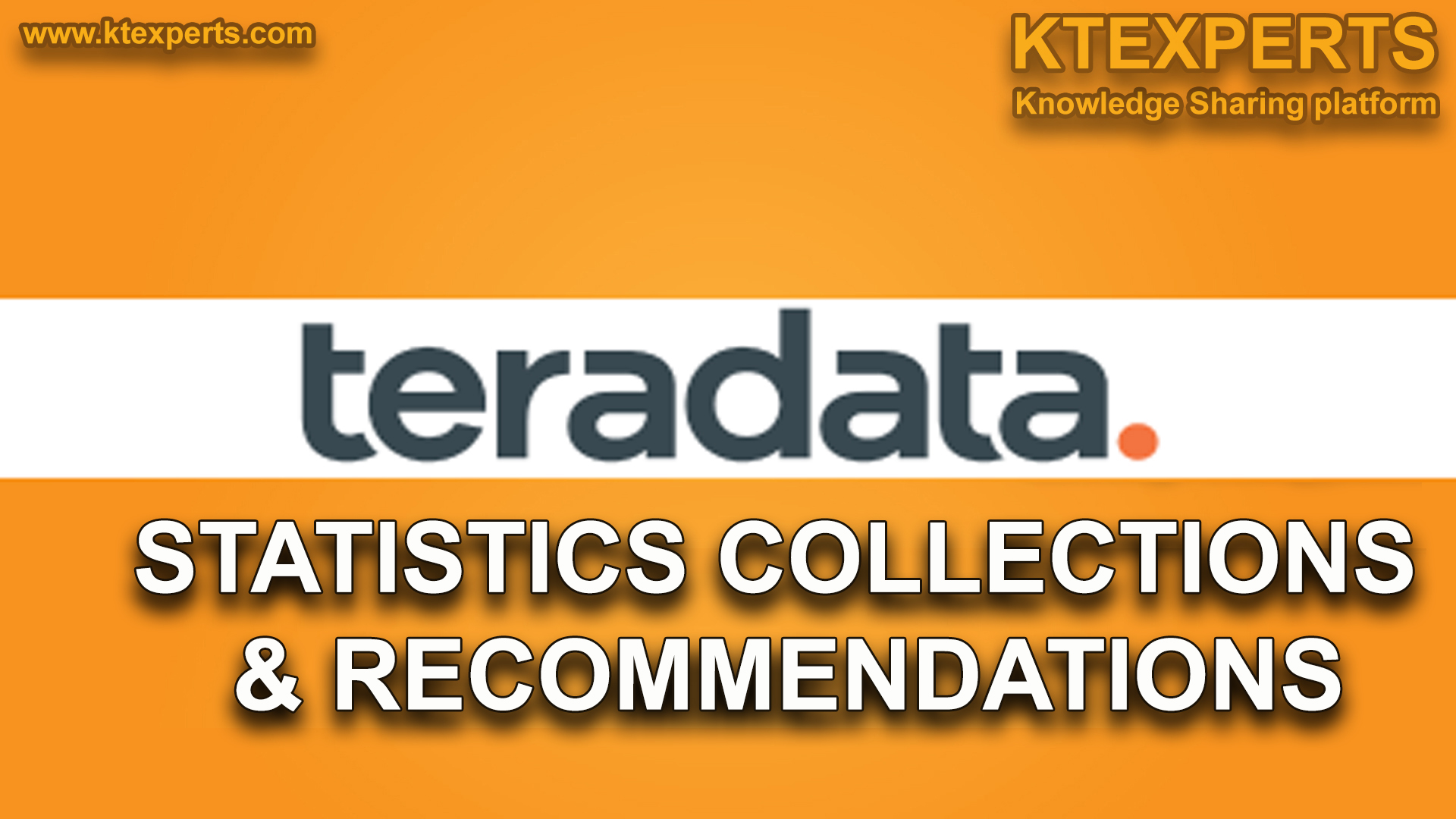 STATISTICS COLLECTIONS AND RECOMMENDATIONS