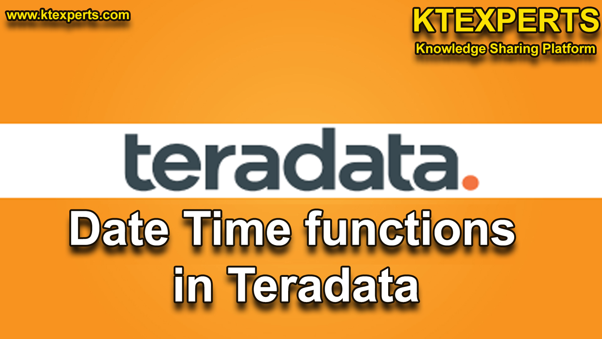 DATE/TIME FUNCTIONS in Teradata
