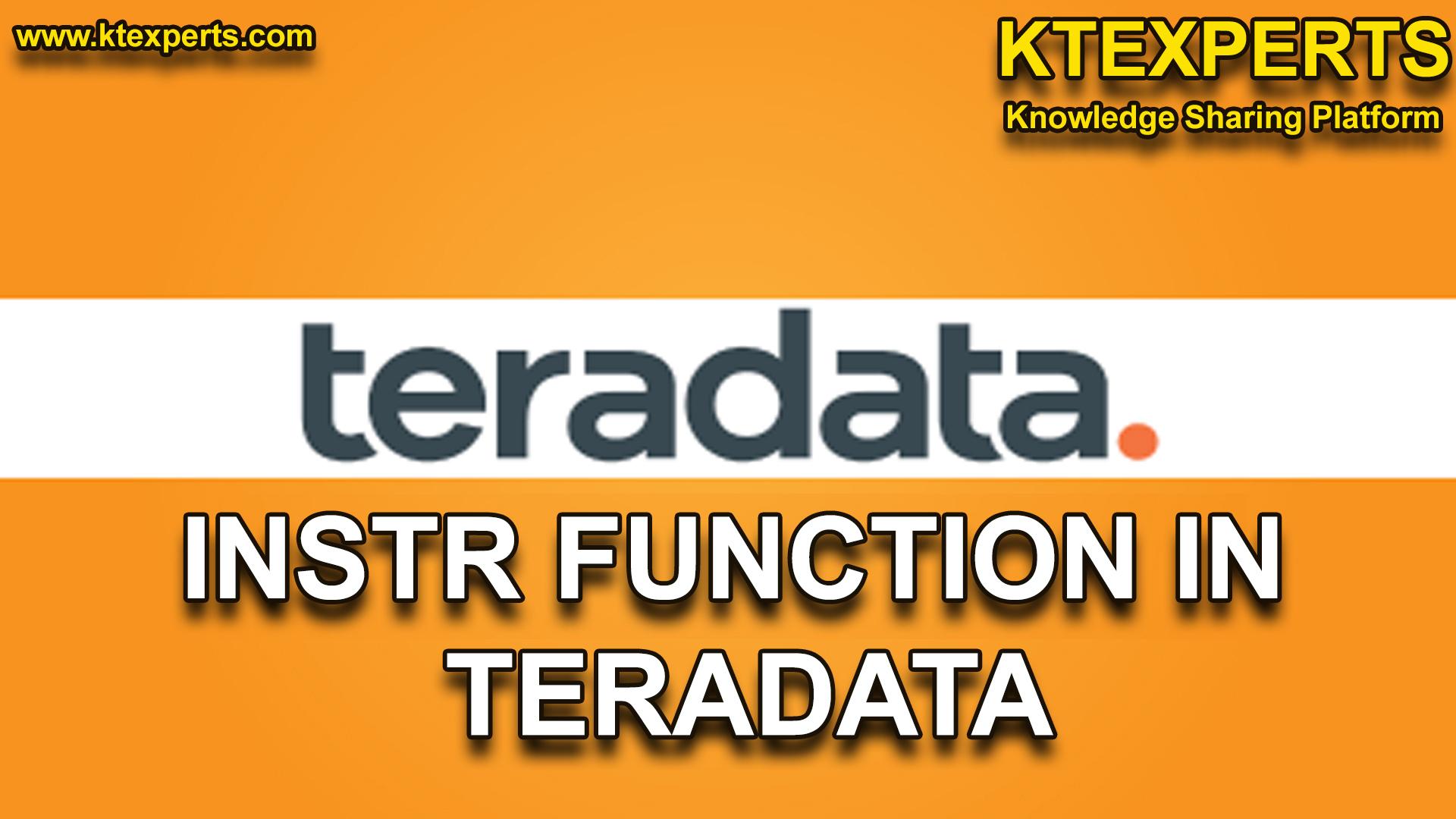 INSTR FUNCTION IN TERADATA