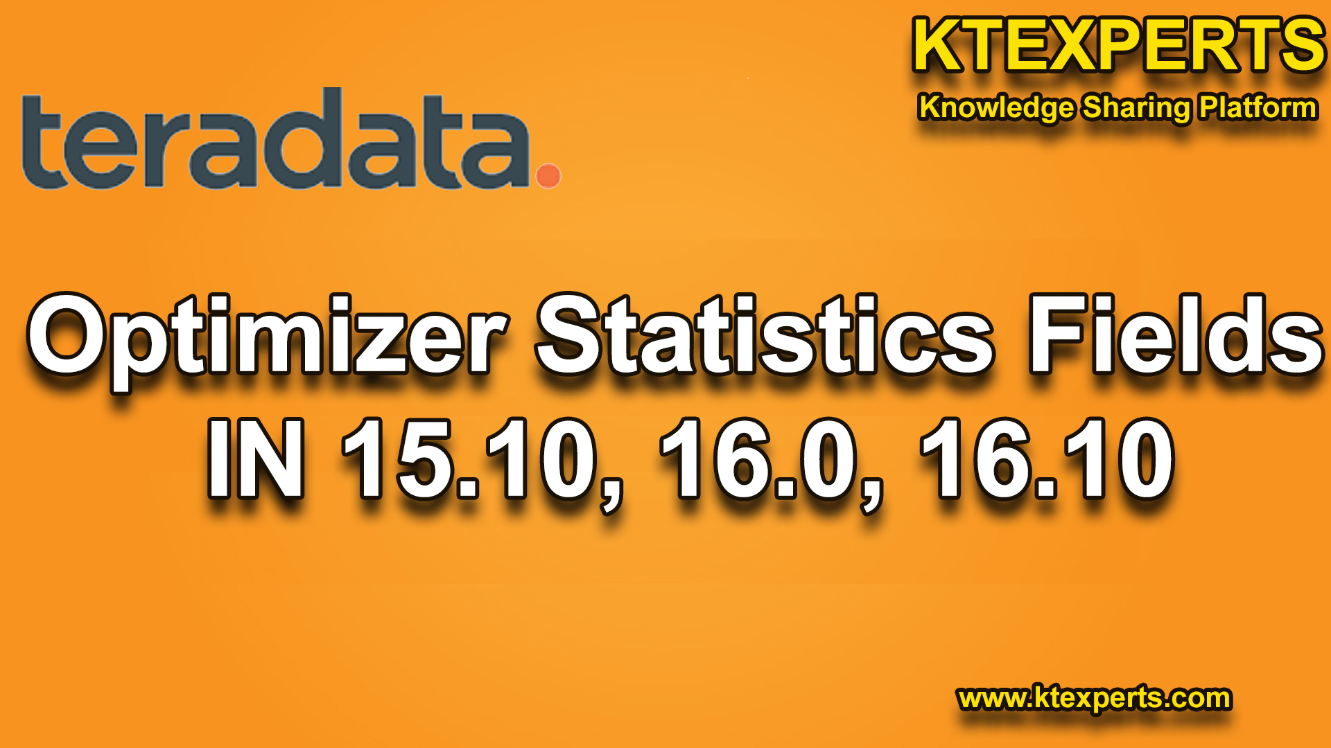 Optimizer Statistics Fields IN 15.10, 16.0, 16.10