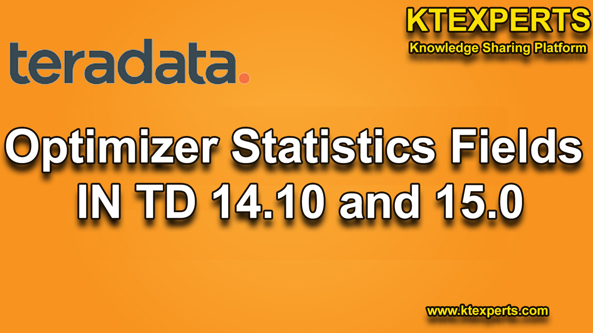 Optimizer Statistics Fields IN TD 14.10 And 15.0