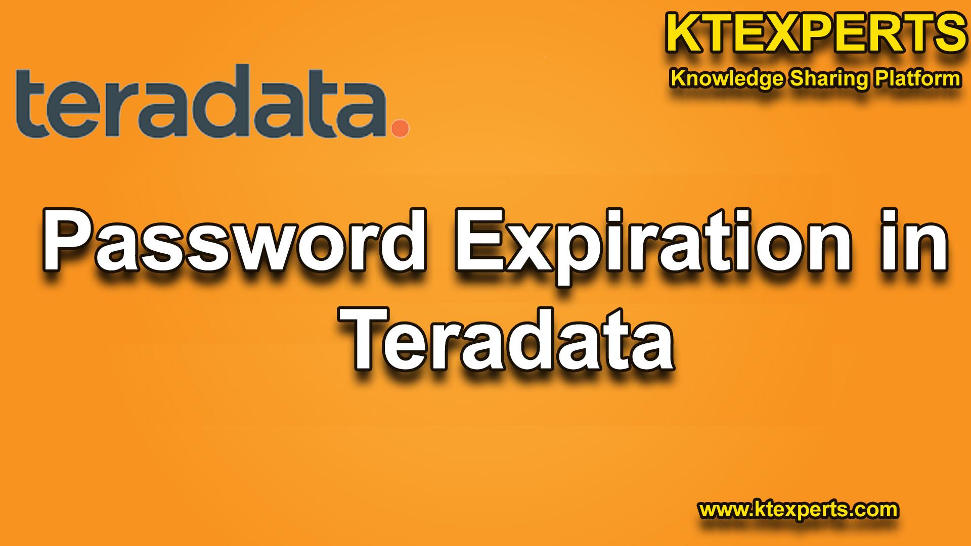 Password Expiration in Teradata