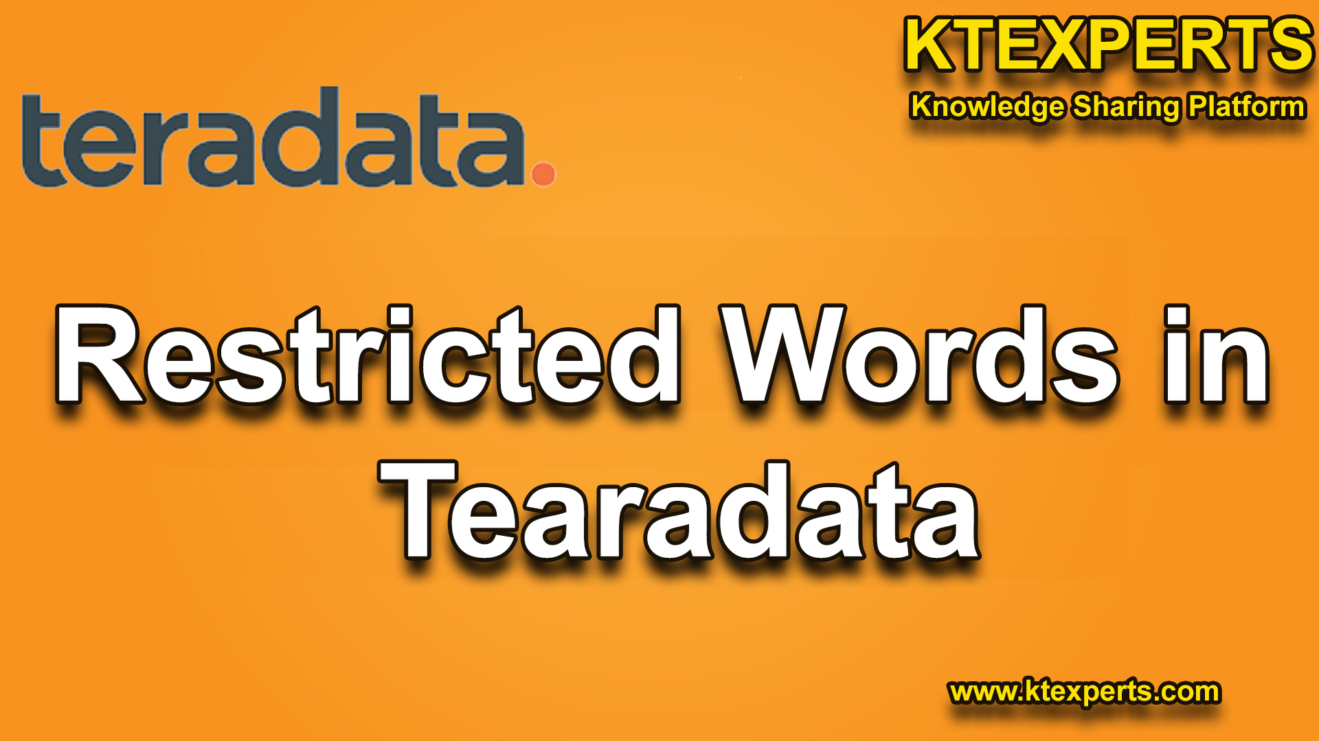 Restricted Words In Teradata