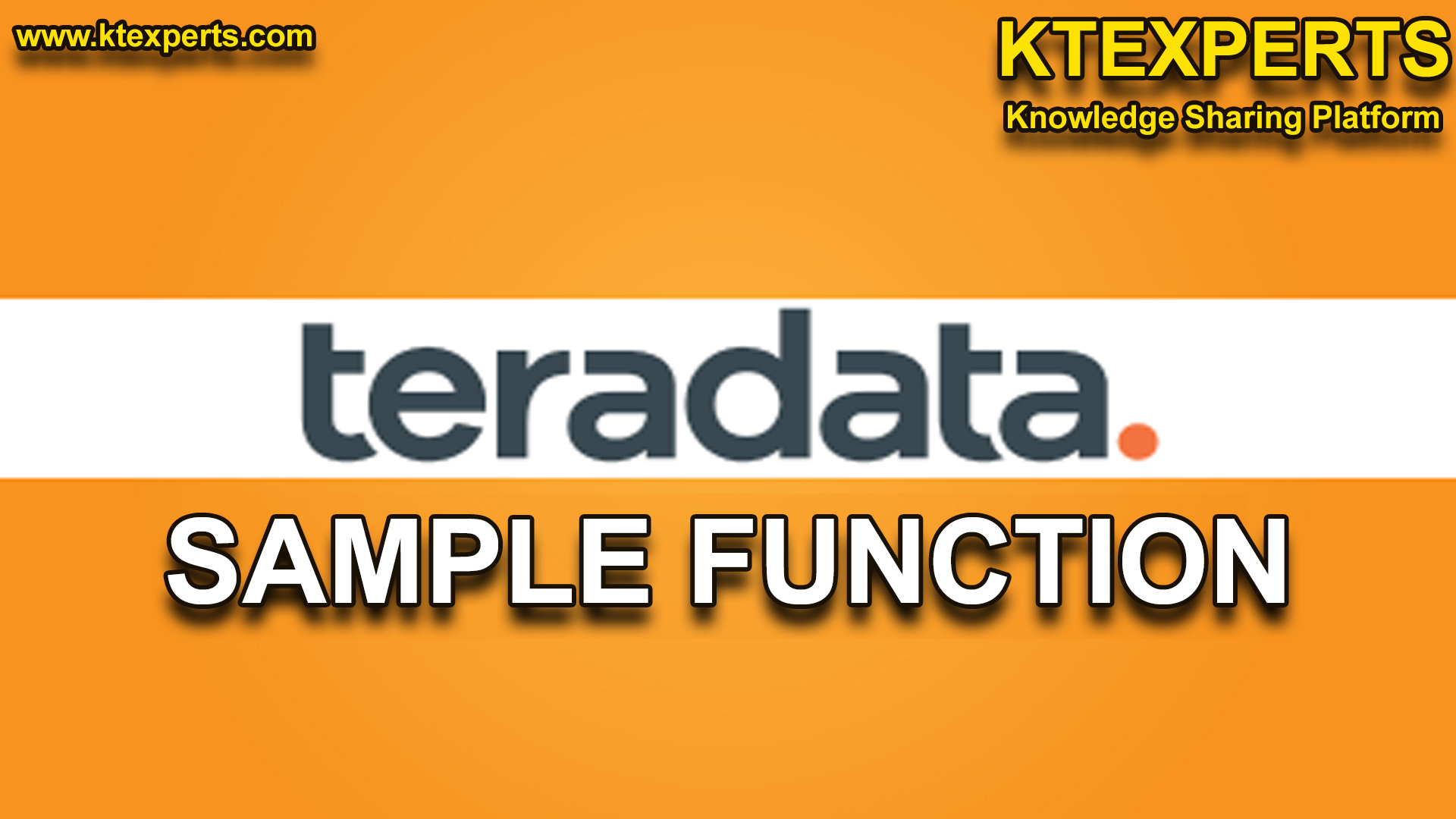 SAMPLE FUNCTION in Teradata