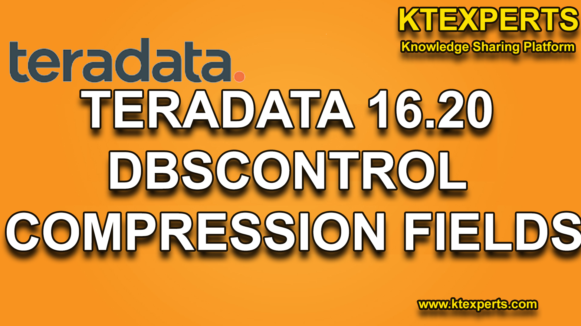TERADATA 16.20 DBSCONTROL COMPRESSION FIELDS