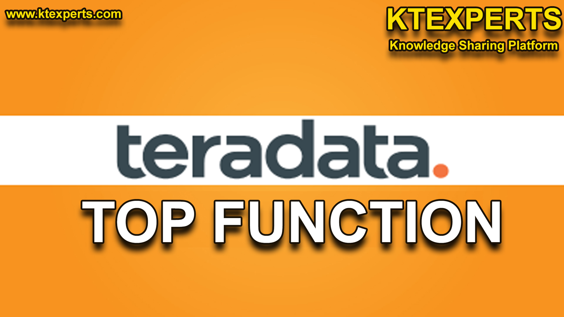 TOP FUNCTION in TERADATA