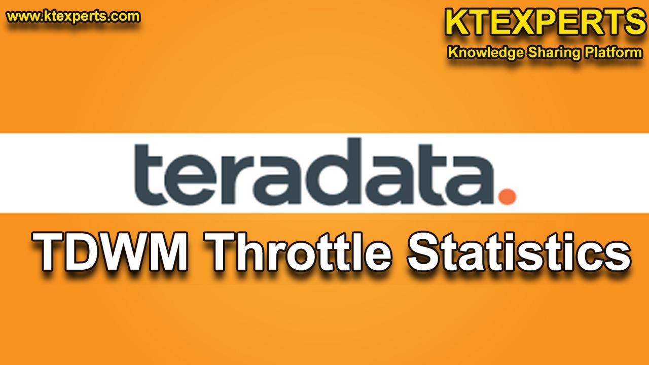 TDWM Throttle Statistics