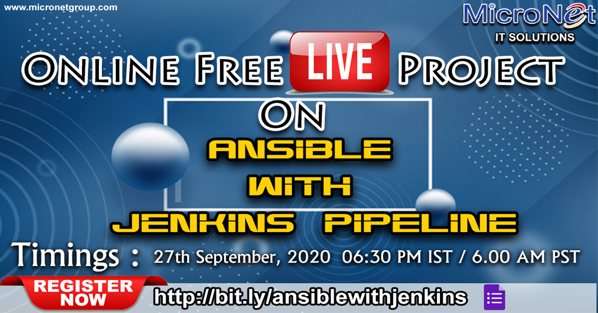 Online Free Live Project On Ansible with Jenkins Pipeline