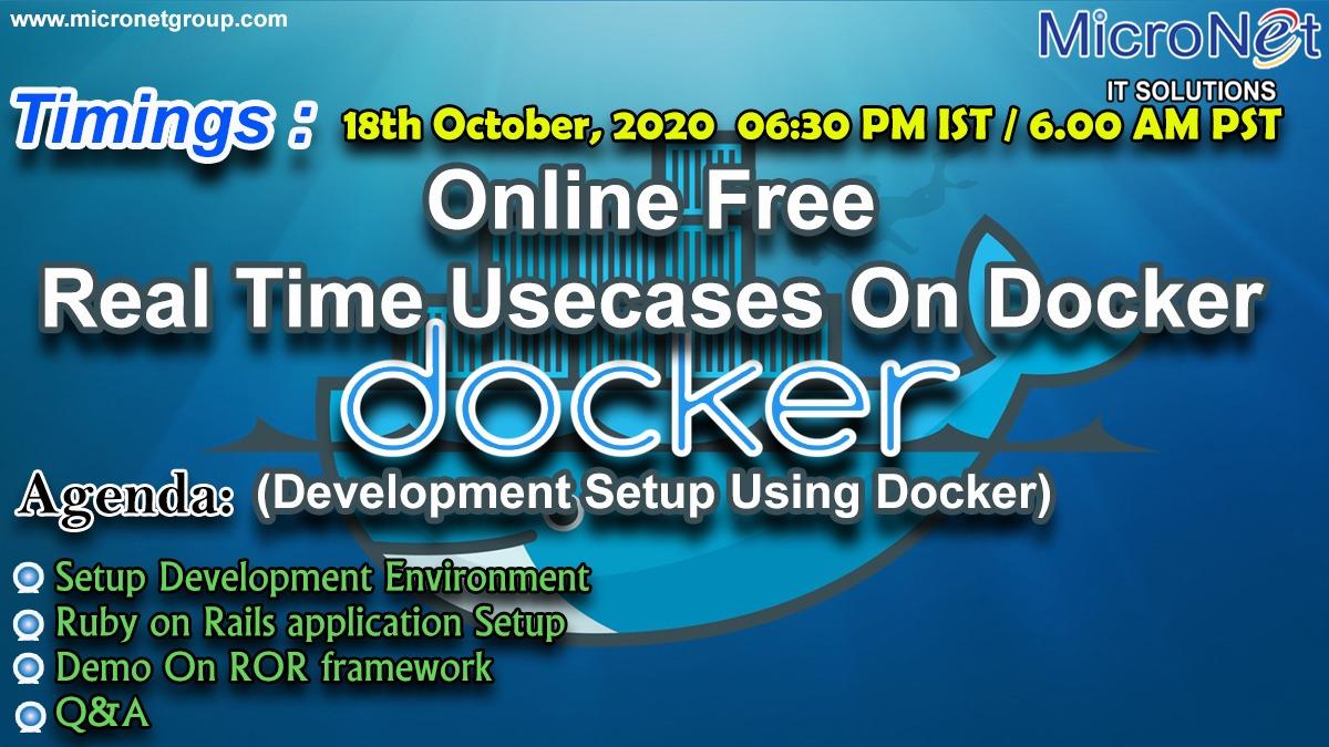 Online Free Real Time Use cases On Docker (Development Setup Using Docker)