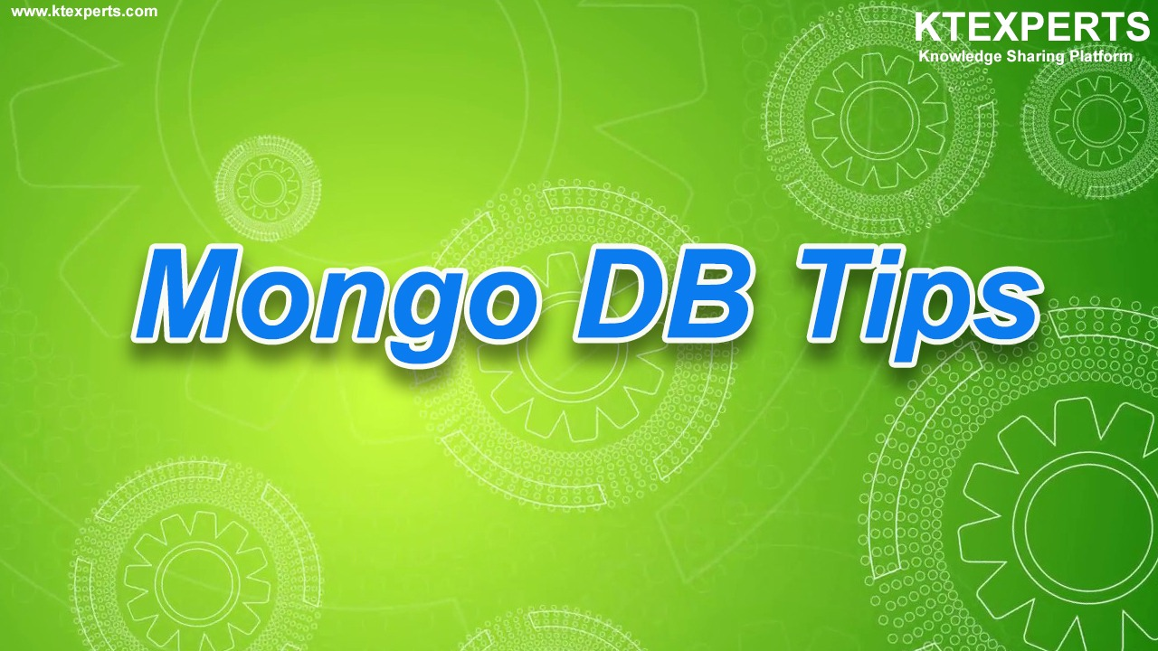 Daily Tips for MongoDB