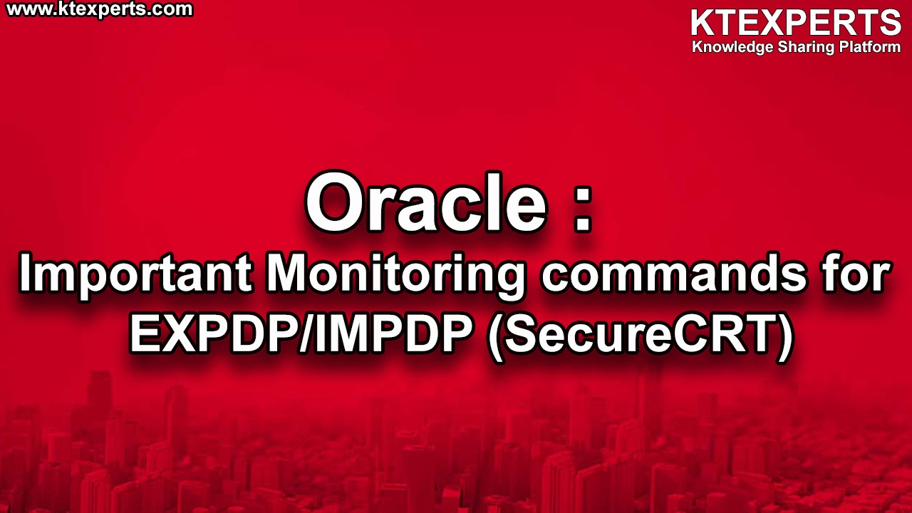 Oracle : Important Queries to check Blocking sessions (SecureCRT)