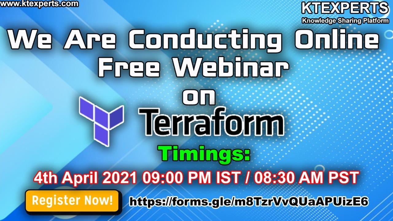 Online Free Webinar on Terraform